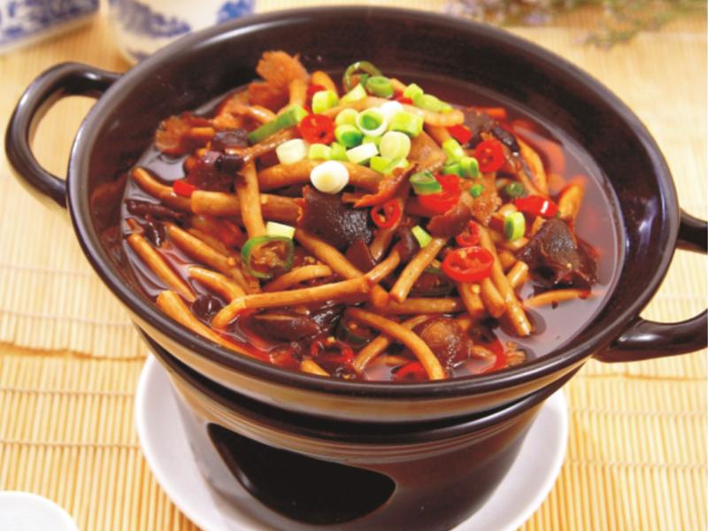 干鍋臘味茶樹菇
