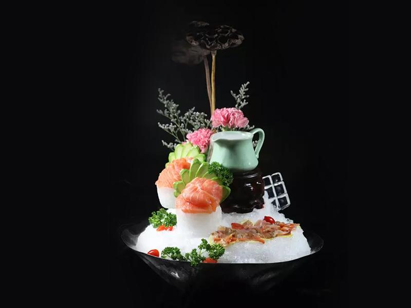 赤貝三文魚刺身