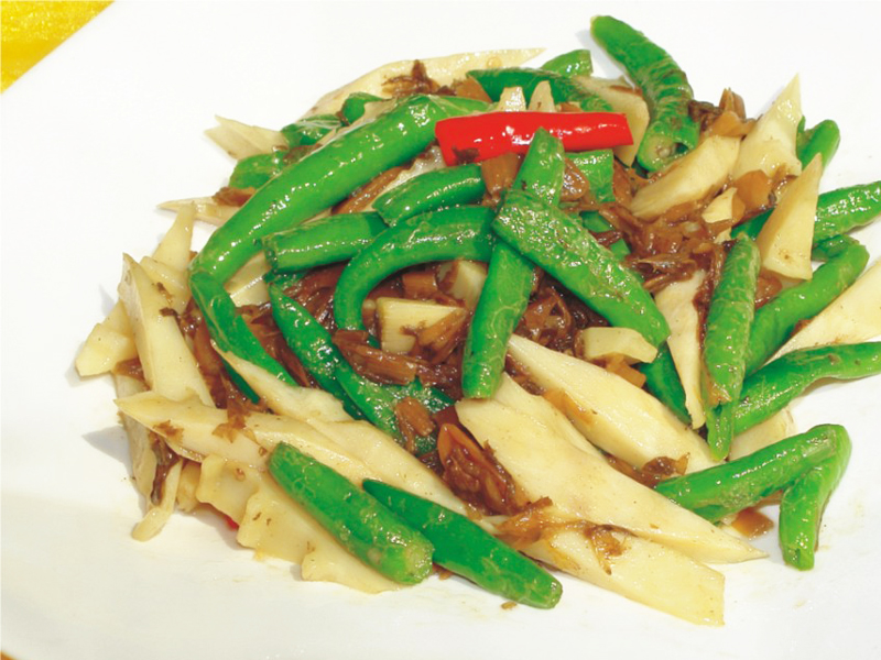 大頭菜杭椒炒時筍